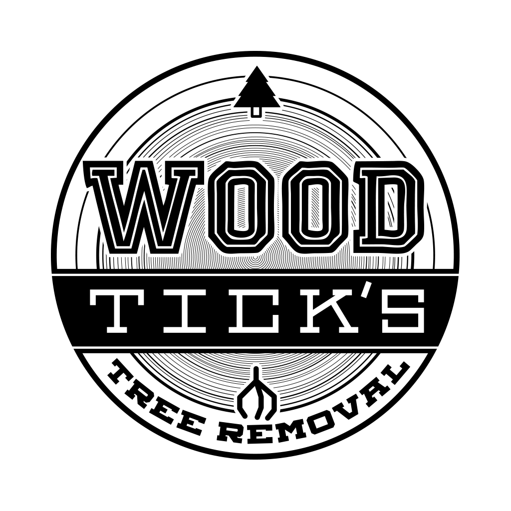 wood ticks tree removal logo